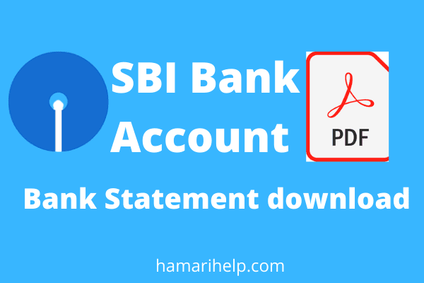 sbi bank account statement download kaise kare online
