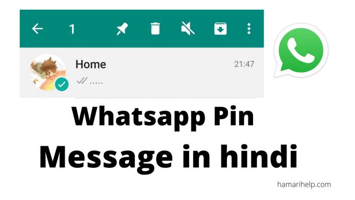 Whatsapp pin message kya hai